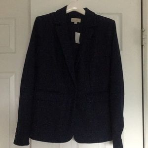 Loft speckled blazer navy size 2
